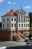 Fryderyk Chopin Museum (Ostrogski slott) i Warszawa (Polen) Arkivfoto