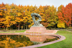 Fryderyk Chopin Statue in Warsaw Stock Images