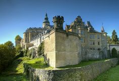 Frydlant - castle in north of Czech republic Stock Images