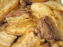 frye χοιρινό κρέας Στοκ Εικόνες