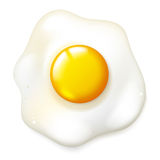 Fryed egg Stock Photography