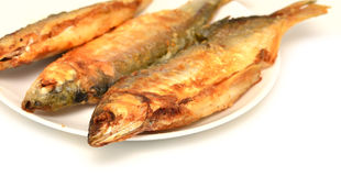 Fryed fish Stock Photography