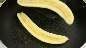 Frying Banana 1 stock video