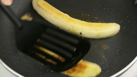 Frying Banana 2 stock video