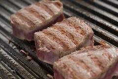 Frying beef Stock Photos