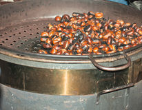 Frying Chestnuts Stock Image