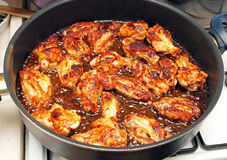 Frying Chicken Wings Stock Images