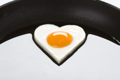 Frying an egg Royalty Free Stock Photos