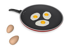 Frying eggs Royalty Free Stock Photography