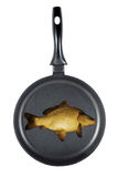 Frying fish Royalty Free Stock Photos