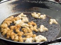 Frying mini Chinese Churros Stock Image