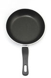 Frying pan. New frying pan on a white background Royalty Free Stock Photo