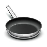 Frying pan. For cooking with nonstick surface vector illustration