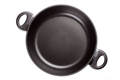 Frying pan. Isolated on white Stock Photo