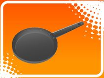 Frying pan. On halftone background Stock Photography
