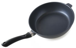 Frying pan. Black Teflon pan isolated on white background Royalty Free Stock Photography