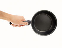Frying pan with ceramic coating Stock Images