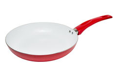Frying pan with ceramic non-stick coating Royalty Free Stock Image