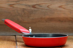 Frying pan chef C Royalty Free Stock Photo