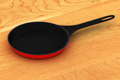 Frying Pan. A Colourful 3d Rendered Frying Pan Illustration Stock Photos