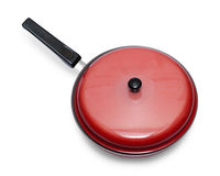 Frying pan with cover Royalty Free Stock Images