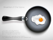 Frying pan with egg. Vector illustration Royalty Free Stock Images