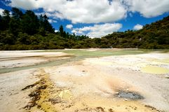 Frying Pan Flat, Wai-O-Tapu Thermal Wonderland Stock Photography