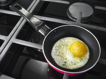 Pan with egg Royalty Free Stock Photo