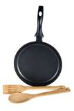 Frying pan frying pan with spoon Royalty Free Stock Photos