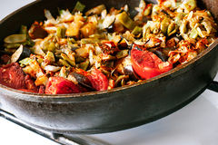 Frying pan full of vegetables Royalty Free Stock Images
