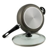 Frying pan with glass lid Royalty Free Stock Photo