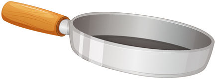 A frying pan. Illustration of a frying pan on a white background Royalty Free Stock Photography