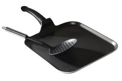 Frying pan. Isolated Stock Photography