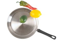Frying pan. Isolated Royalty Free Stock Image