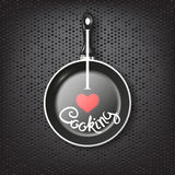 Frying pan lettering Royalty Free Stock Images