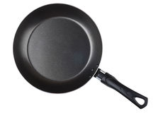 Frying pan with non-stick surface isolated on white Royalty Free Stock Images