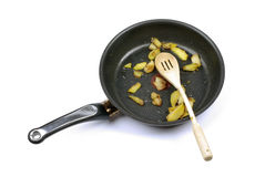 Frying pan with potato. Stock Photos