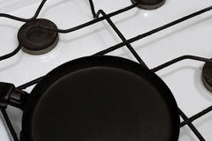 Frying pan on top Stock Images