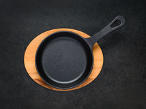 Frying Pan in Top View Royalty Free Stock Photos