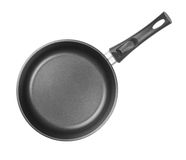 Frying pan top view isolated or cutout Stock Images