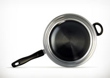 Frying pan, vector icon Stock Photography