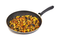 Frying pan with vegetables Stock Images