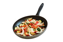 Frying pan with vegetables Royalty Free Stock Photo