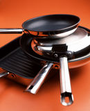 Frying pans Royalty Free Stock Photography