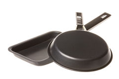 Frying Pans Isolated Royalty Free Stock Photo