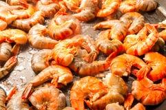 Frying prawn Royalty Free Stock Photos