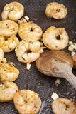 Frying shrimps Stock Images