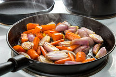 Frying Vegetables Royalty Free Stock Photo