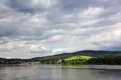 Frymburk at Lipno lake in Czech Republic. Royalty Free Stock Photo