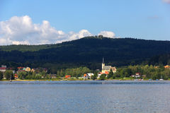 Frymburk on the Lipno lakeside, Czech Republic. Stock Image